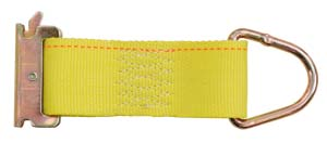 """2"""" x 6"""" Rope Ring Tie Down Strap w/ E-Track Fitting"""