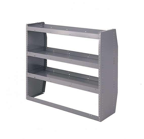Adrian Steel 3-Shelf Unit, Gray 30 Series KD Shelf Unit