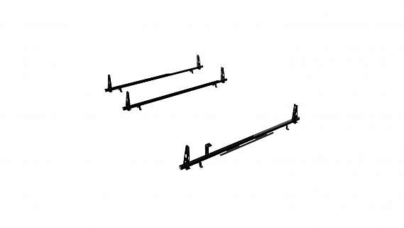 Adrian Steel 3-Bar Utility Rack , Black, NV Low Roof