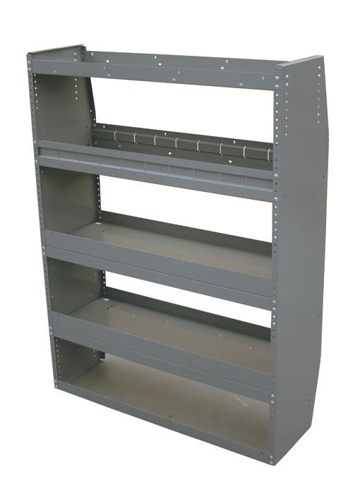 Adrian Steel 4-Shelf Unit w/ Shelf Dividers, Gray