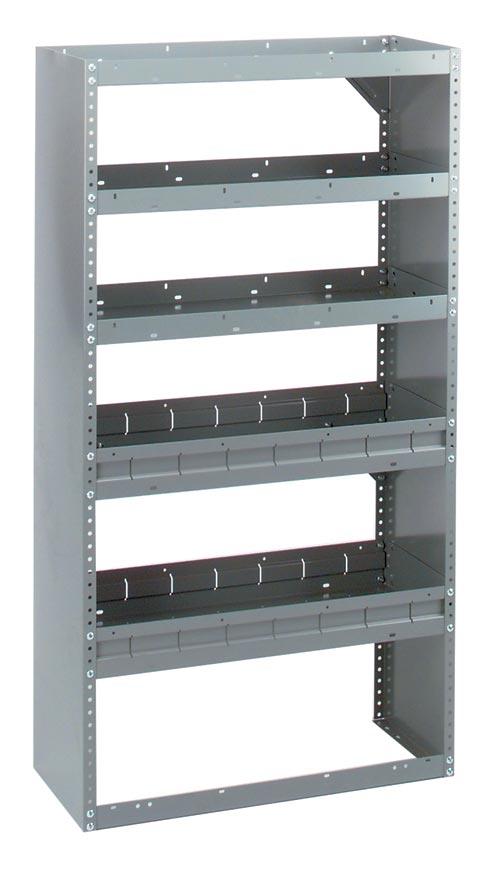 Adrian Steel 5-Shelf Unit, Gray