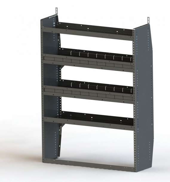 Adrian Steel 4-Shelf Unit, Gray