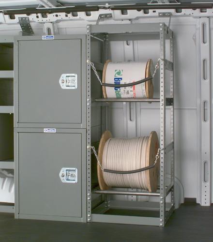Adrian Steel 2-Bar Wire Reel Holder, Gray