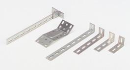 Adrian Steel L-Bracket, 1x2 Slot, 3.2w x 1.7h x 1.3d