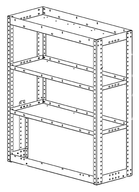 "Adrian Steel 3-Shelf Unit, Gray 30"" Open End Adjustable Shelving Unit"