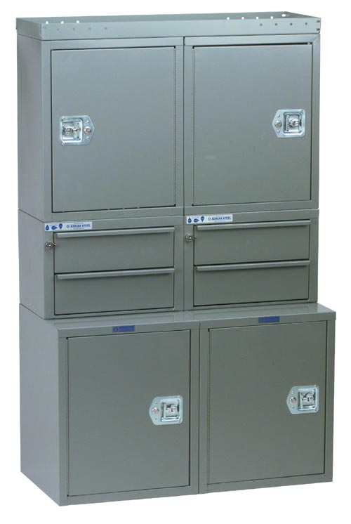 """Adrian Steel Cabinet & Drawer Module 36"""" W, 58"""" H, 12""""/18"""" D"""