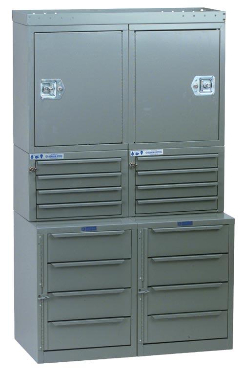 """Adrian Steel Cabinet & Drawer Module 36"""" W, 60"""" H, 12""""/18"""" D"""