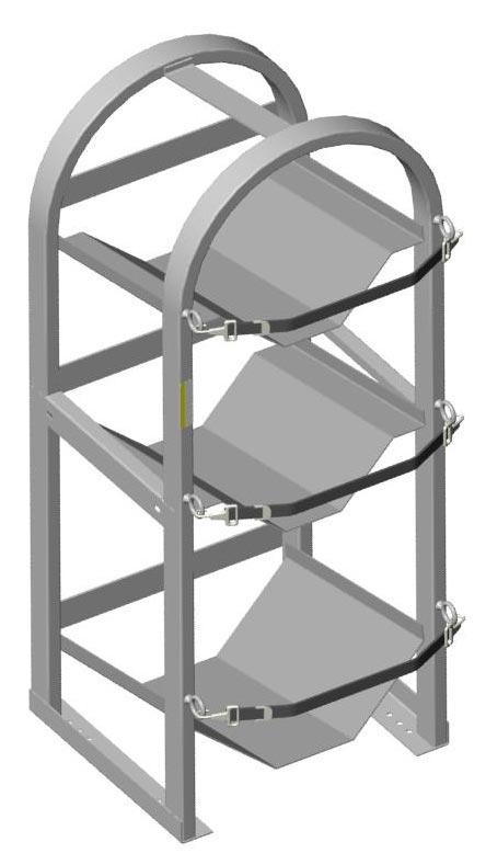 Adrian Steel Cabinet Riser Kit, 17.8w x 2h x 12d, Gray