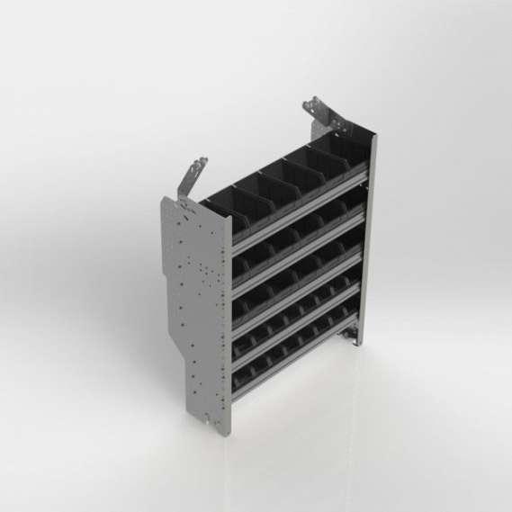 """Ranger Design Set of 5 divider units 14"""" depth for van shelving"""