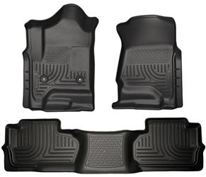 Husky Liners Chevy 3500 Double (Extended) Cab Front & Rear Husky