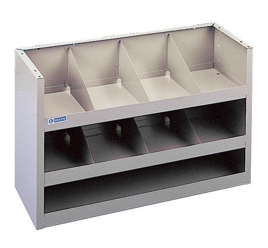 Adrian Steel Welded 3-Shelf Unit w/ Dividers, Gray