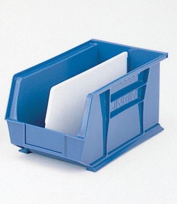 PLASTIC BIN BLUE 8X7X15