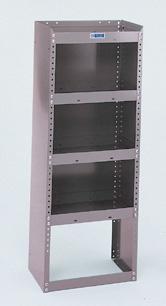 "Adrian Steel 4-Shelf Unit, Gray Adjustable Shelf Rack 18""W"