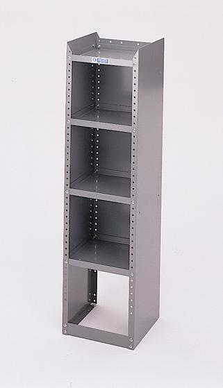 "Adrian Steel 4-Shelf Unit, Gray Adjustable Shelf Rack 12""W"