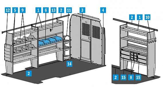 "Adrian Steel HVAC Package - ProMaster 159"" WB"