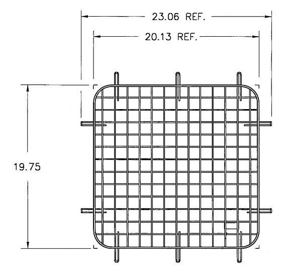 WINDOW SCREEN/60 SIDE/GM 96-1/2-ON/FSV