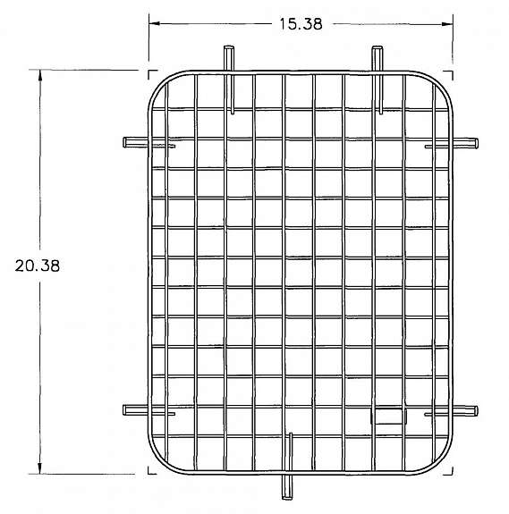 WINDOW SCREEN/40 SIDE/GM 96-1/2-ON/FSV