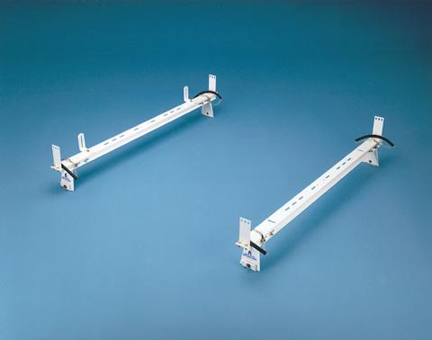 Adrian Steel 2-Bar Utility Rack w/ Double Tie Down, White, Multiple Vehicles