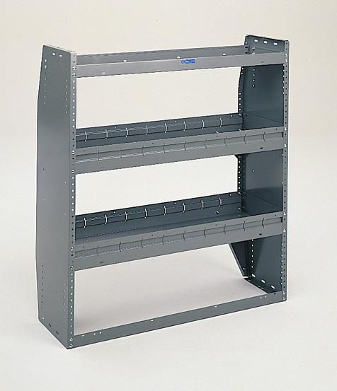 "Adrian Steel 3-Shelf Unit, Gray 42"" HD Adjustable Shelving"