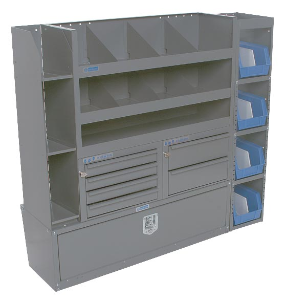 "Adrian Steel Cabinet and Drawer Module 52""W, 46-1/2""H, 14""D"