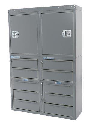 """Adrian Steel Cabinet & Drawer Module 36"""" W, 54"""" H, 12"""" D"""