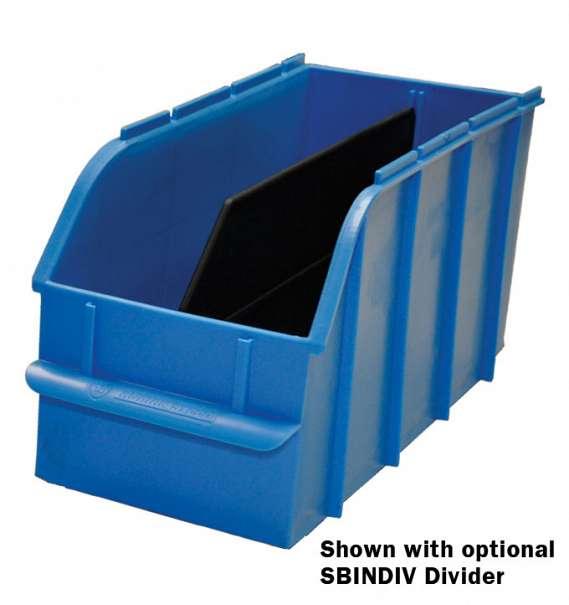 """Adrian Steel Snap In Bin, 6"""", Blue"""
