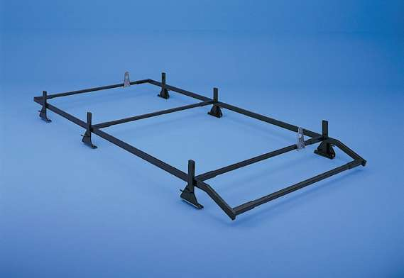 Adrian Steel Perimeter Ladder Rack, Black, Express, Savana