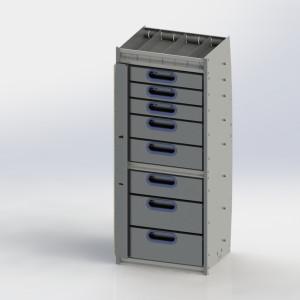 Drawer cabinet, Contoured