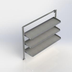 Ranger Design Fold-Away Cargo Van Foldable Shelving System, 3 Levels