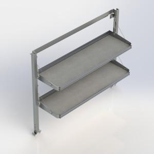 Ranger Design Fold-Away Cargo Van Foldable Shelving System, 2 Levels