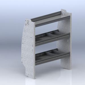 Shelf unit, contoured