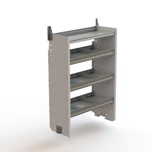 Shelf unit, square back, deep