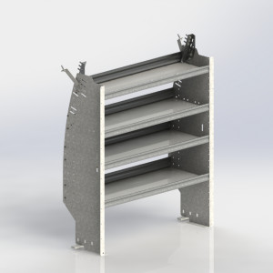 Shelf unit, contoured
